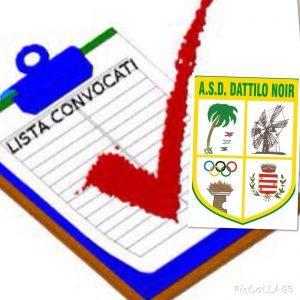 Lista dei convocati per la gara Dattilo Noir VS CUS Palermo