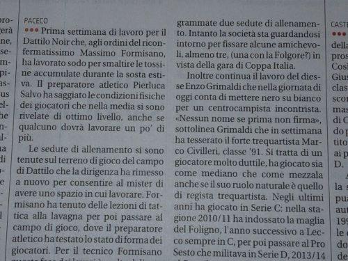 """Nuovo acquisto """" Marco Civilleri """" in casa Dattilo Noir"""