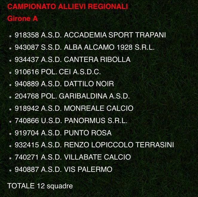 Girone All. Reg 16-17