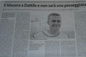 Articolo di stampa Dattilo-Mazzara