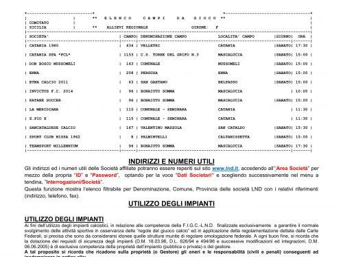 Calendario All. Reg.le Gir. A