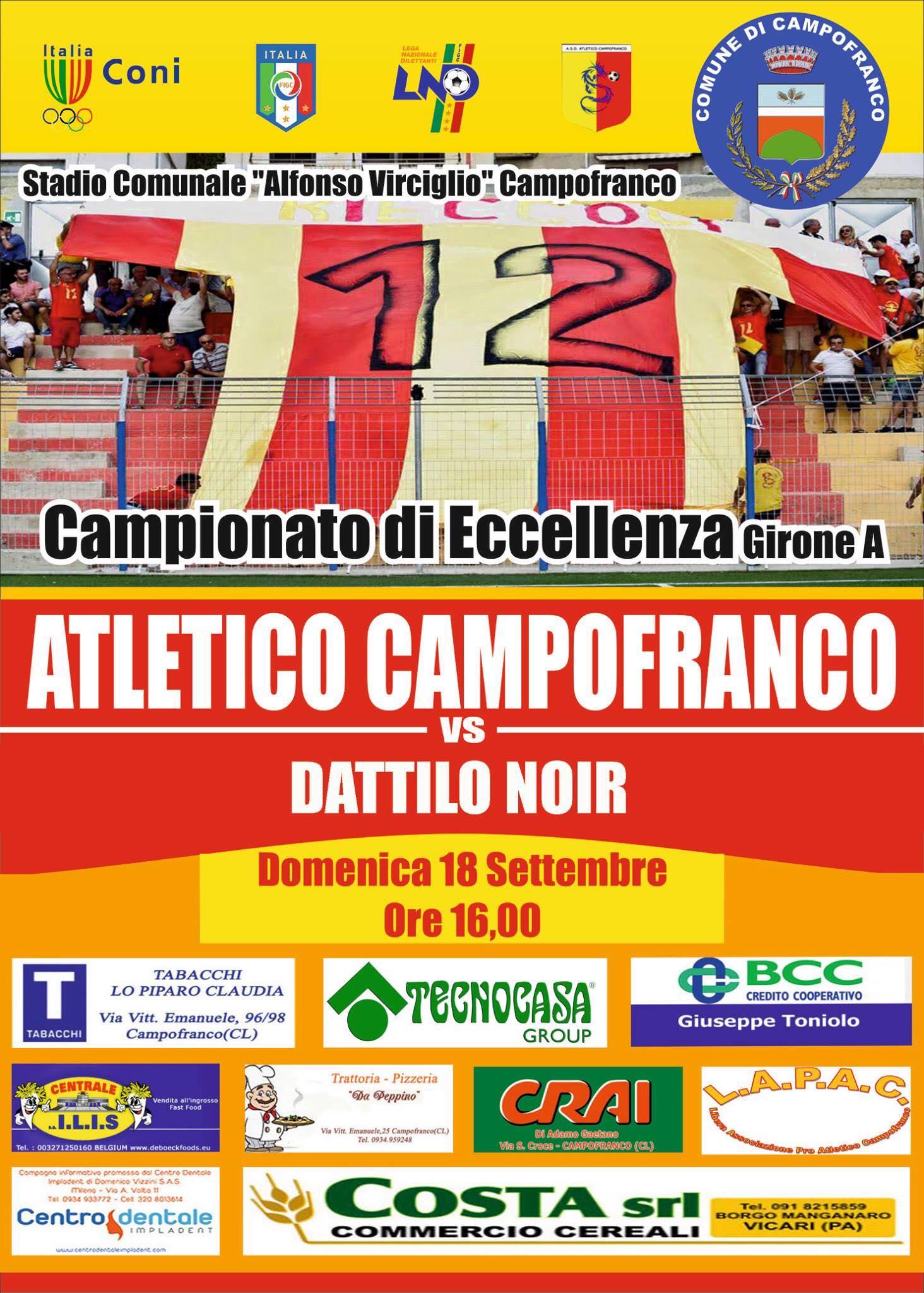 locandina  atletico campofranco - dattilonoir