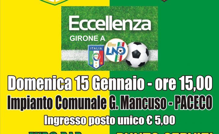Dattilo / Campofranco  – domenica 15.01.17
