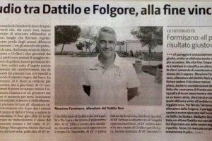 Articolo di stampa gara Dattilo Noir – Folgore
