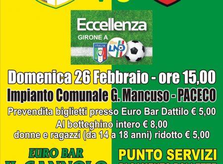 Domenica 26.02.17 Dattilo/Folgore