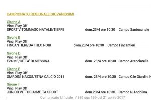 Play Off Giov. Reg. Fincantieri Dattilo Noir 23.04.17