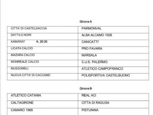 Sicilia – Coppa Italia di Eccellenza Girone A e B ecco tutti gli accoppiamenti !