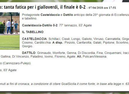 Finale Cateldaccia – Dattilo Noir 0 – 2