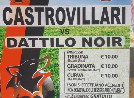 Domenica 27/05/2018 CASTROVILLARI VS DATTILO NOIR