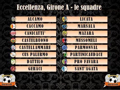 """Composizione del girone """"A"""" Eccellenza S.S. 2018/19"""