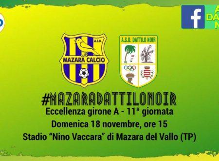 Gara Eccellenza A 11^ Giornata – 18.11.18 Mazara /Dattilo