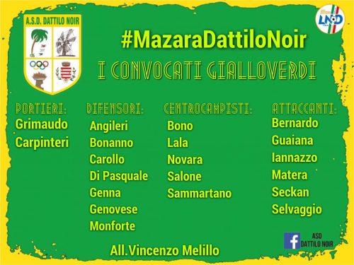 Gara  Coppa Italia  Eccellenza Mazara vs Dattilo Noir