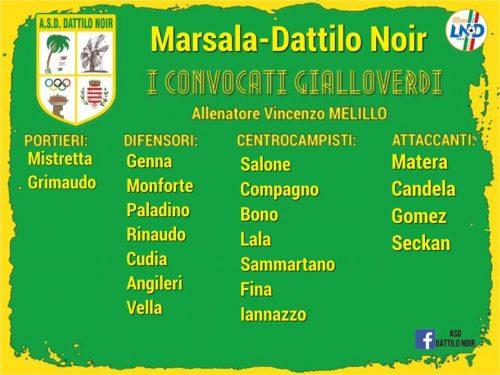 I convocati Marsala Dattilo