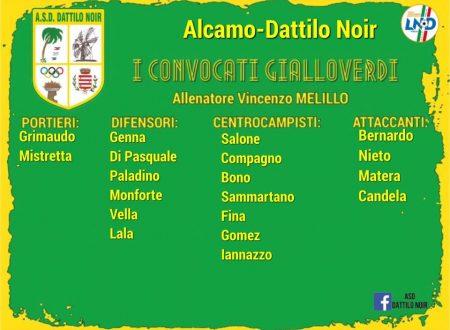 I convocati gialloverdi Alcamo – Dattilo Noir