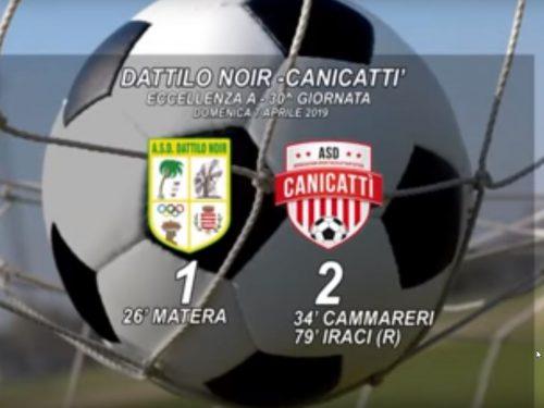 ASD Dattilo Noir – Canicatti 1 – 2