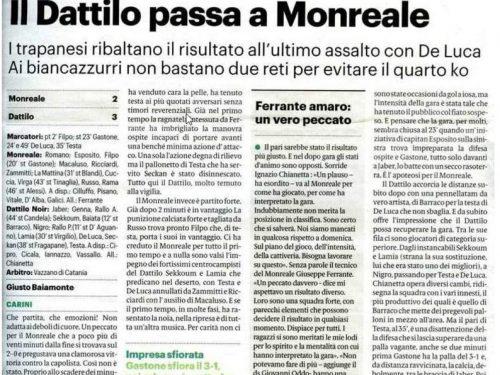 Monreale  VS Dattilo Noir 2 a 3