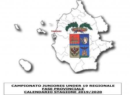 CAMPIONATO JUNIORES UNDER 19 REGIONALE  FASE PROVINCIALE  CALENDARIO STAGIONE 2019/2020