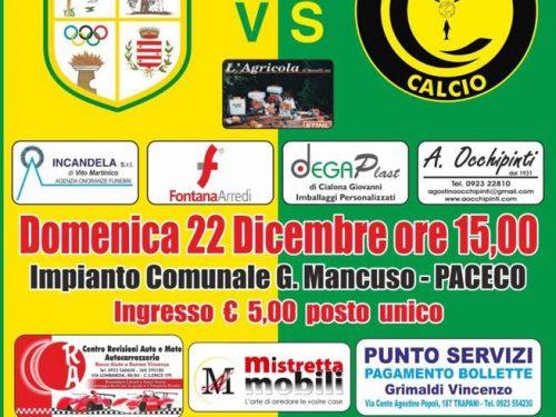 Domenica  22 dic ASD Dattilo VS Cephaledium Calcio