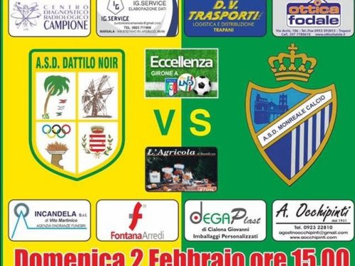 ASD attilo Noir VS Monreale Calcio domenica 02.02.20