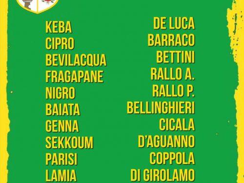I convocati di domenica 16.02.19 VS Castellammare