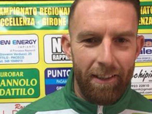 Il centrocampista Claudio Lamia del Dattilo Noir