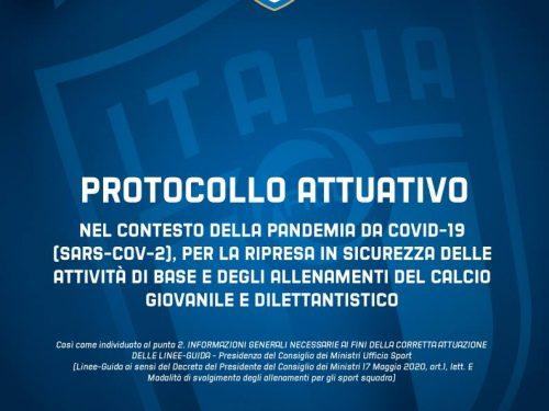 Protocollo attuativo FIGC per la ripresa in sicurezza attività calcistica