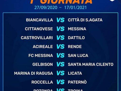 Calendario Campionato Serie D Gr. I